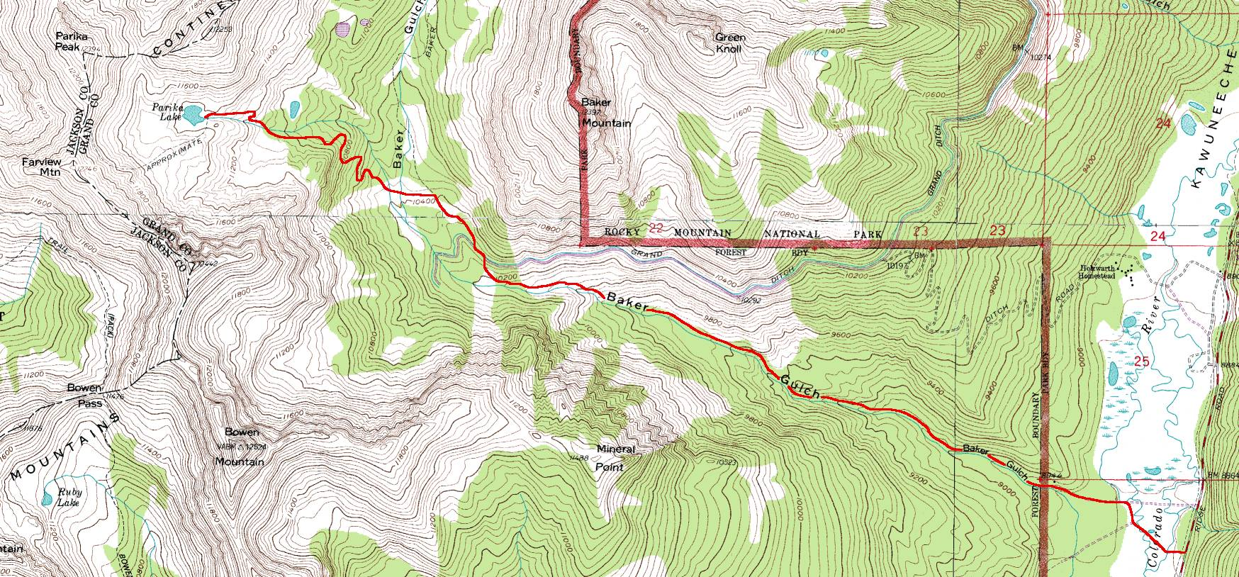 RMNP Trail Guide - Trail Map